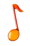 orange music note shape