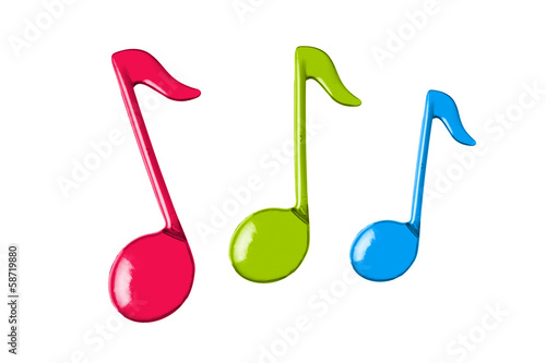 three color music notes