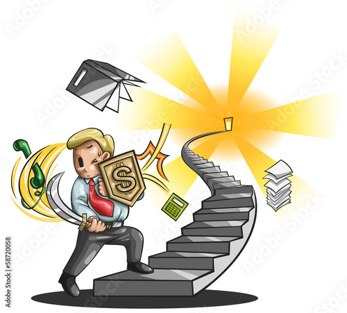Path to a great businessman (vector)
