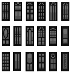 Sets of silhouette doors, create by vector.
