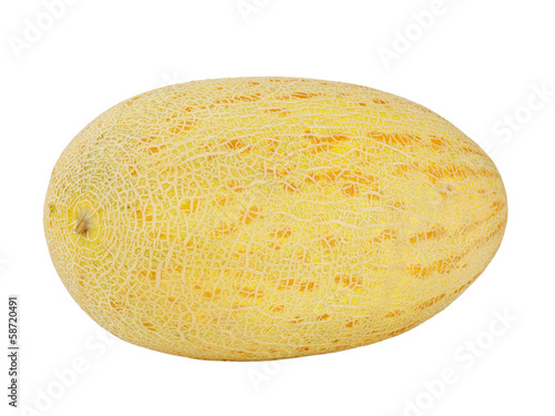 Ripe melon isolated on white background.