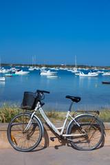 Formentera bicycle at Estany des Peix lake