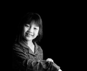 Portrait of cute cheerful little girl