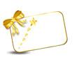 X-mas Card mit Goldener Schleife