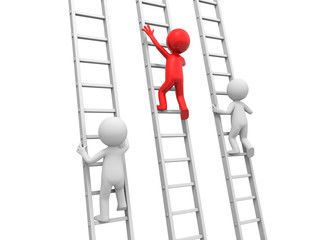 Man with ladder