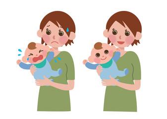 子育てする女性