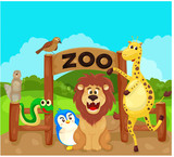 zoo sign with animals