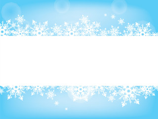 snowflake wish card tender blue and white