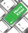 merry christmas message, keyboard enter key button xmas