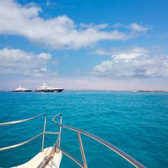 Illetes Illetas Formentera yacht sailboats anchored