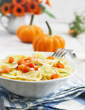 Farfalle with pumpkin and parmesan