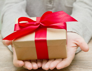 gift box in the hands