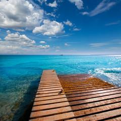 Formentera Mitjorn  beach with turquoise Mediterranean