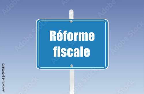panneau réforme fiscale