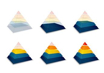 Pyramidal progress or loading bar