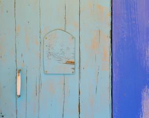 Mediterranean blue door details in Balearic Islands