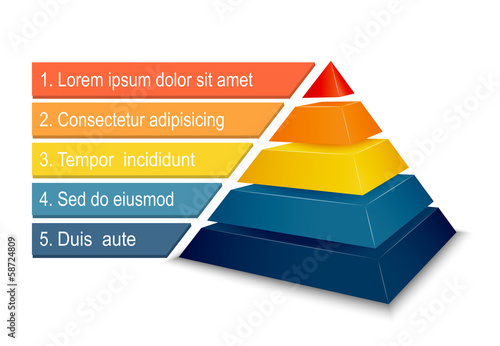 Pyramid chart for infographics - 58724809