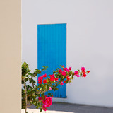 Mediterranean blue door details in Balearic Islands