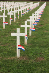 Crosses with Croatian flag in Vukovar