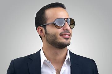 Young caucasian man wearing sunglasses