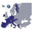 Europa und seine Euro Mitglieder