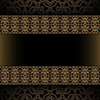 Vintage background wth gold border ornament