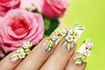 Акриловые розы.