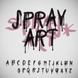 Graffiti splash alphabet, vector Eps10 image.