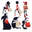 girls and shopping bags large collection