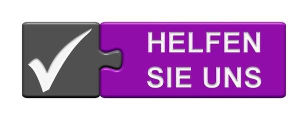 Puzzle-Button grau violett: Helfen Sie uns