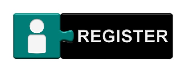 Puzzle-Button blau schwarz: Register