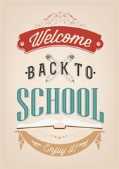Welcome Back To School Typography Background