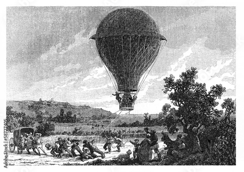 Fototapeta Le voyage en ballon