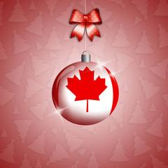Christmas ball with Canada's flag
