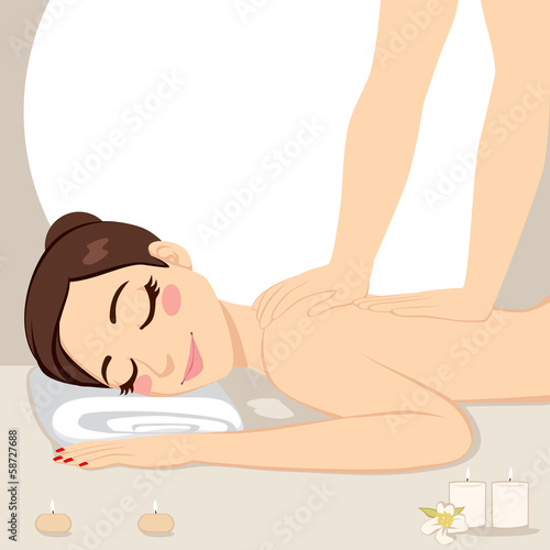 Woman Relaxing Massage Spa