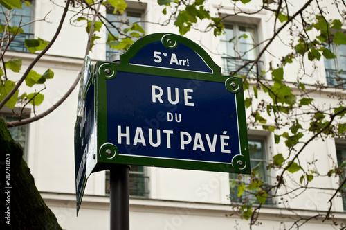 Poster rue du haut pavé à Paris