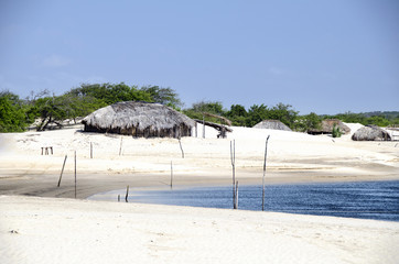 Fisherman's village in Jericoacoara in Brazil