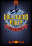 Halloween Party Typographical Poster