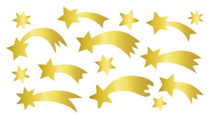 set of shooting stars