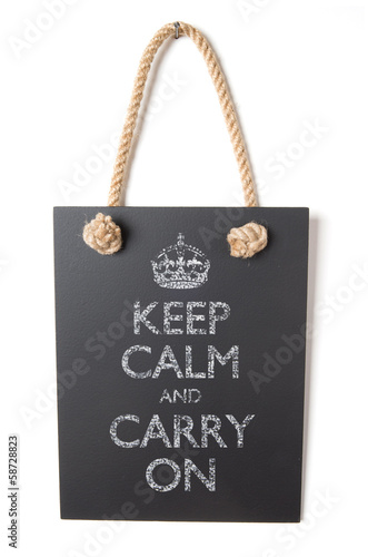 poster of Keep calm and carry on