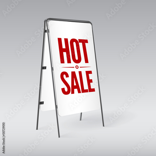 Pavement sign with the text Hot sale
