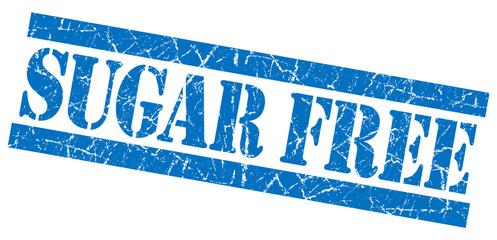 Sugar free blue grunge damaged isolated stamp