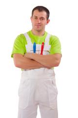 a painter in a uniform