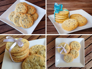 Cookies biscuits collage