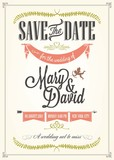 Fototapety Save The Date, Wedding Invitation Card