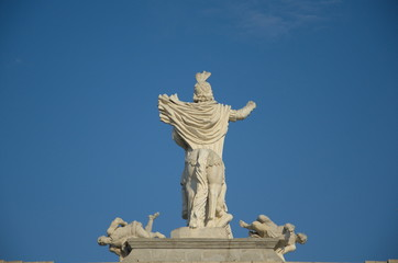 Carol VI, back of gate, Alba Iulia, Transylvania