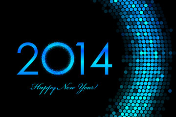 Vector 2014 Happy New Year purple background