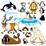 cartoon arctic set