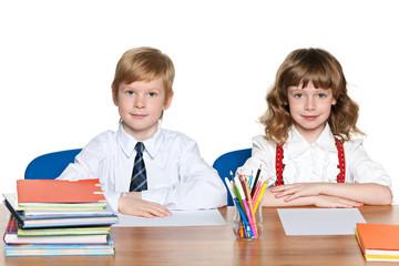 Children at the desk