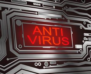 Antivirus concept.